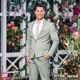 a man wearing a suit and tie: Scandalous! The Bachelorette's Jamie Doran (pictured) was previously involved in a paternity test scandal, after an American model claimed he was the father of her child in 2017