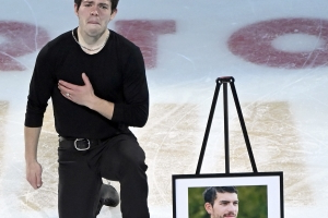 Keegan Messing performs heartfelt gala tribute to late brother at Skate America