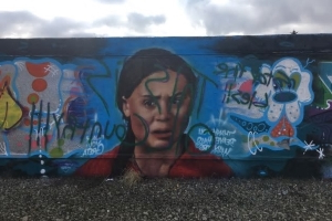 'This is oil country': Newly painted Greta Thunberg mural gets defaced, covered in slurs
