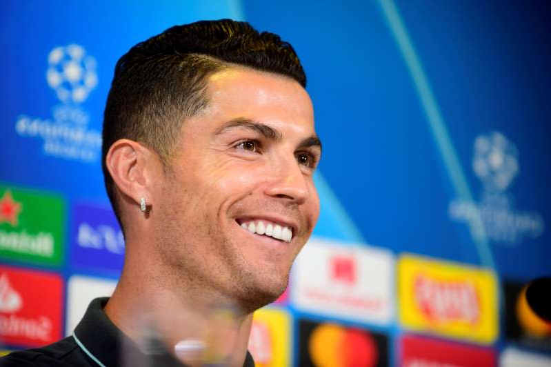 uventus' Cristiano Ronaldo during the press conference