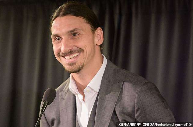 Zlatan Ibrahimovic wearing a suit and tie smiling at the camera: Zlatan Ibrahomovic could return to Serie A when his LA Galaxy contract expires in December