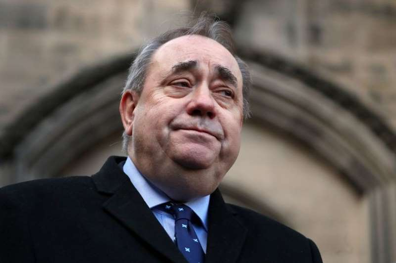 Alex Salmond wearing a suit and tie: Former First Minister Alex Salmond