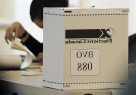 An Elections Canada ballot box is shown on federal election day in Montreal, Monday, May 2, 2011.