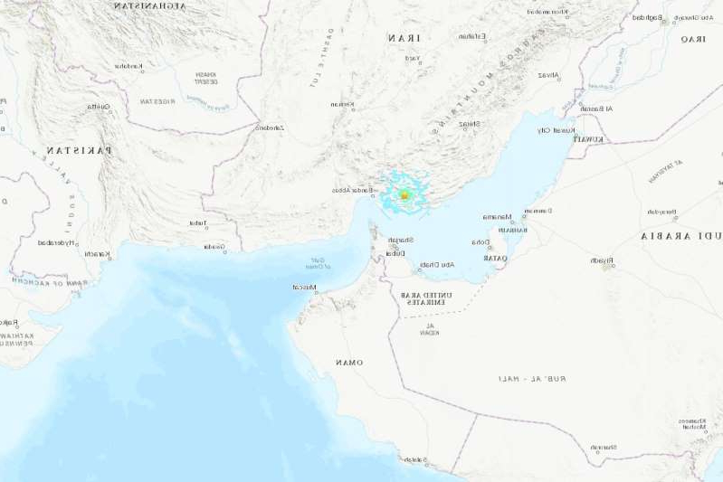 Authorities in Iran say an earthquake with a preliminary magnitude of 5.6 has shaken the country's south.