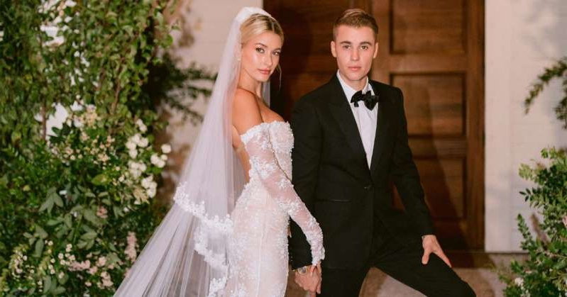 Hailey Baldwin in a wedding dress: Justin Bieber Shares New Photo of Wife Hailey Baldwin from Wedding Weekend: 'Sexy Wifey Alert'