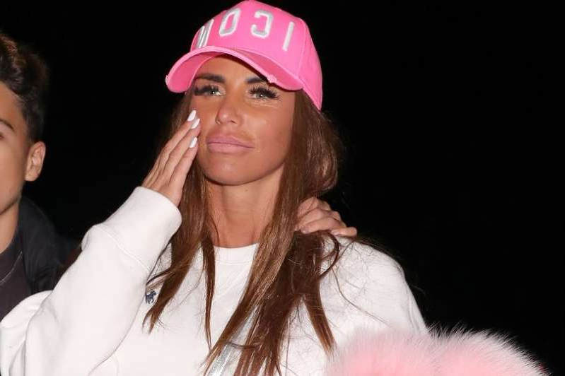 Katie Price wearing a hat: Katie Price revealed her pride as her younger sister completed her degree in history