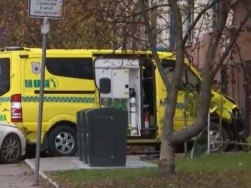Man shot by police after driving ambulance into crowd