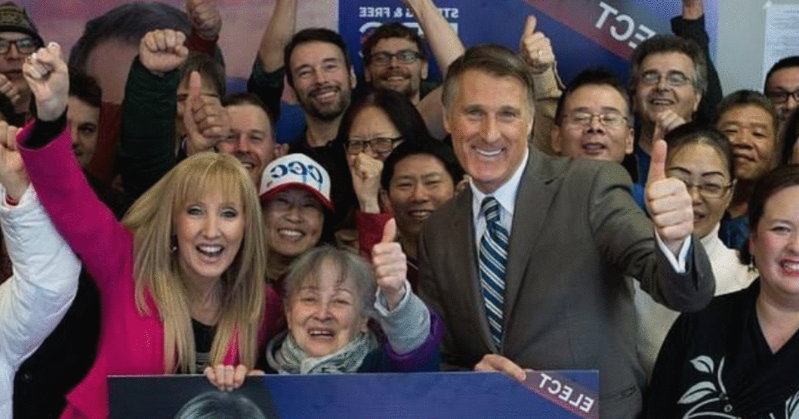 Maxime Bernier et al. posing for a photo