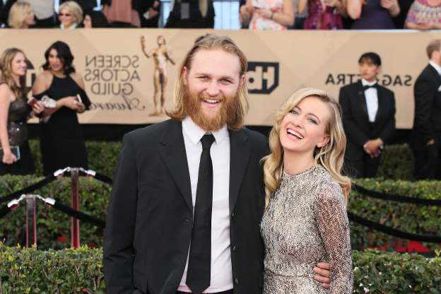 Slide 20 of 68: LOS ANGELES, CA - JANUARY 29: Actors Meredith Hagner (L) and Wyatt Russell attend the 23rd Annual Screen Actors Guild Awards at The Shrine Expo Hall on January 29, 2017 in Los Angeles, California. (Photo by David Livingston/Getty Images)