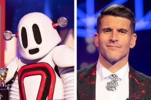 The Masked Singer: Osher Gunsberg's wife went into labour just as Cody Simpson was unveiled as the robot