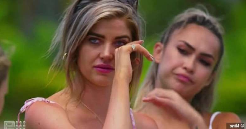 'They're all going to be swayed': Love Island Australia's Anna McEvoy (pictured) burst into tears on Tuesday's show as five bikini-clad intruders entered the villa