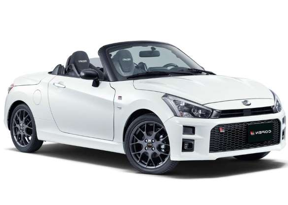 a white car: The Toyota Copen GR Sport should be far more fun than its 63 horsepower suggests.