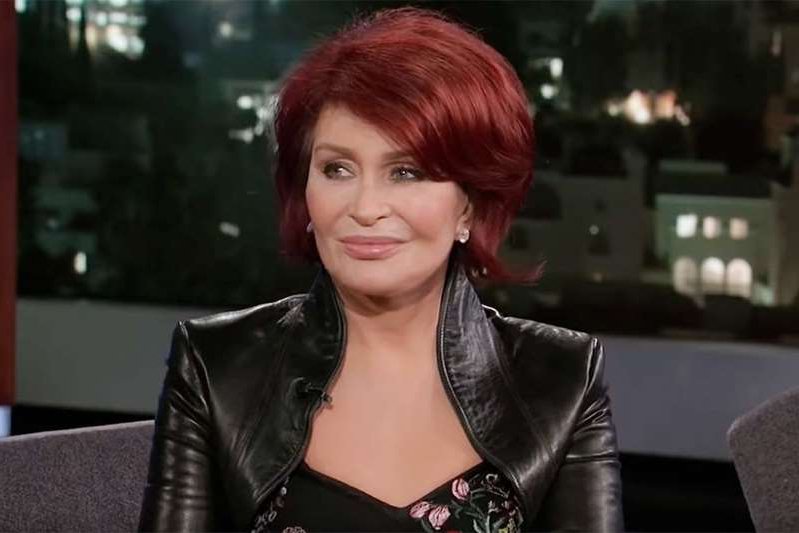 Sharon Osbourne sitting at a table: Jimmy Kimmel Live/YouTube