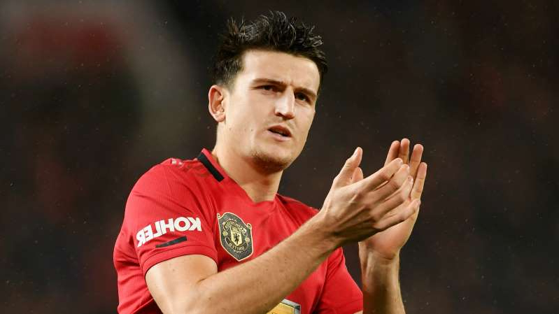 Harry Maguire in a red shirt: Manchester United defender Harry Maguire