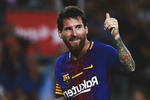 Messi nets historic Champions League goal
