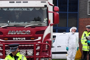 U.K. police launch murder probe after 39 bodies found in truck