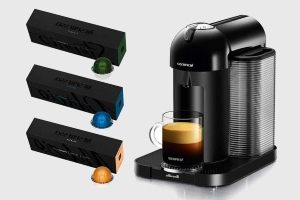 Brew excellent espresso at home with Nespresso Vertuo and 30 coffee pods for $100