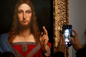 Omission of da Vinci painting sparks intrigue