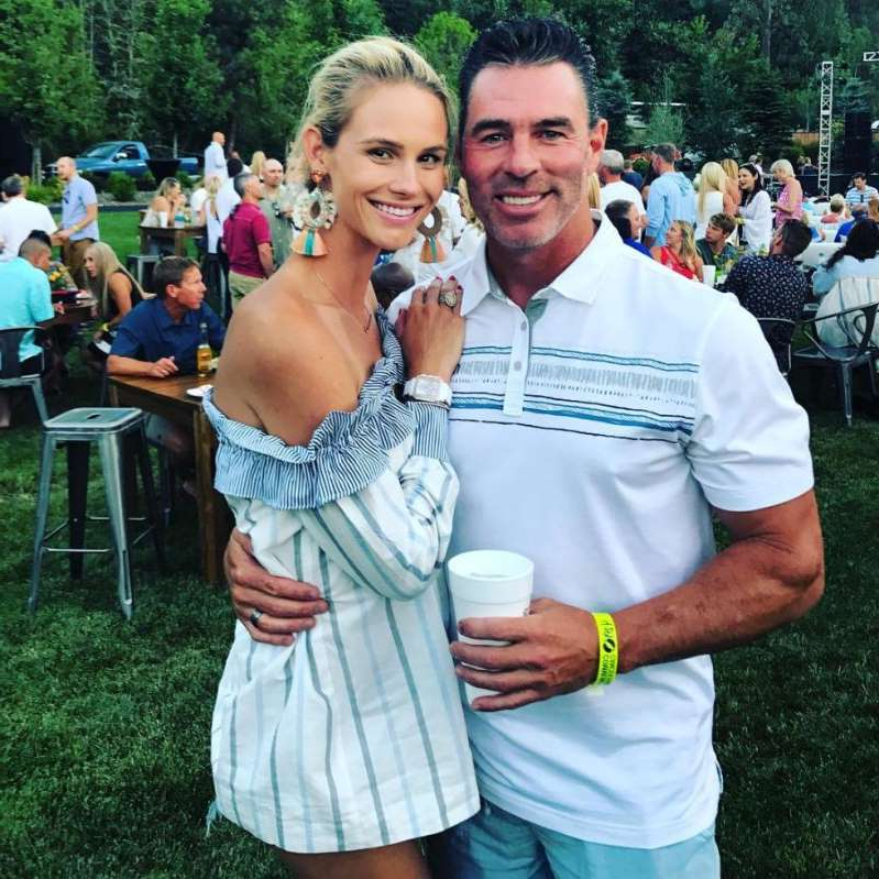 a person standing posing for the camera: Jim Edmonds and Meghan King Edmonds
