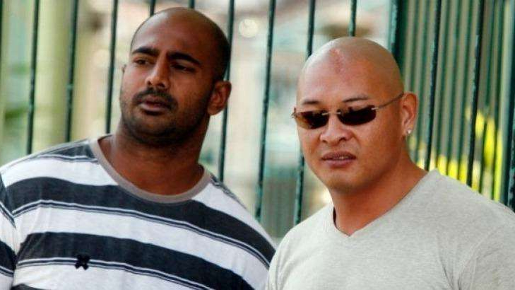 Andrew Chan looking at the camera: Australian Andrew Chan (L) and Myuran Sukumaran (R) were executed by Indonesia in April, 2015.