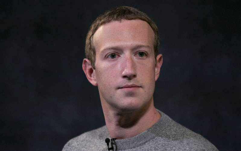 Mark Zuckerberg wearing a black shirt