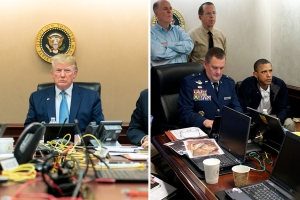 2 Photos of Tense White House Moments: Note the Differences