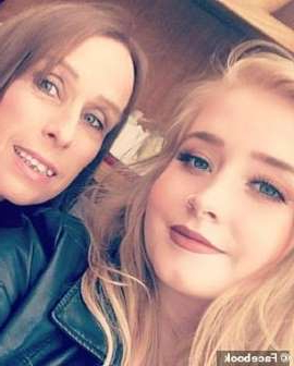 a group of people posing for the camera: Student Lindsey Bone, 20, pictured with her mother Mandy Bone, was found dead by flatmates in her bedroom in Brighton in April