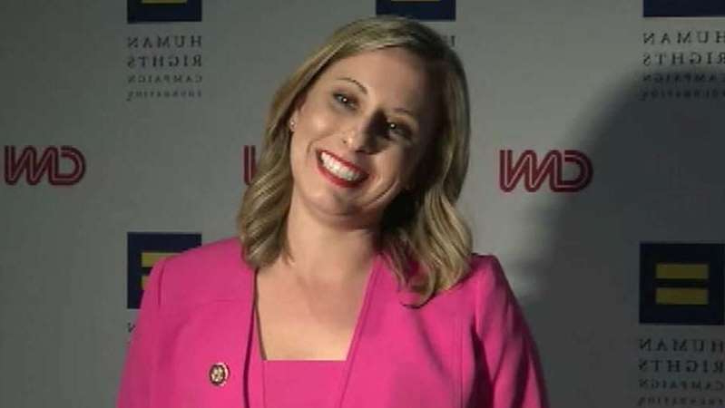a person wearing a purple shirt: 32-year-old Democrat rising star Katie Hill acknowledges errors in judgement but denies an affair after controversial photos and text messages surface; Jonathan Hunt reports.