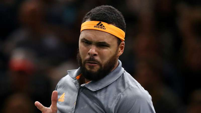 Jo-Wilfried Tsonga wearing a hat: Jo-Wilfried Tsonga ended his long wait for a win in an ATP Masters 1000 match