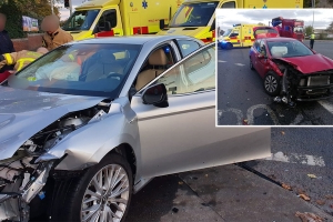 Shocking images show mangled cars as three people injured in Dublin crash