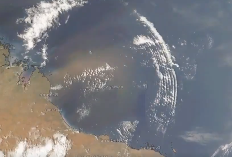 The waves spread over Australia (Weather Zone)