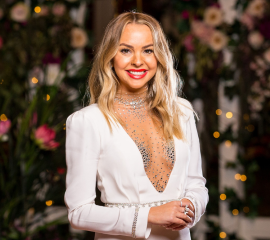 Angie Kent smiling for the camera: Your 2019 Bachelorette, Angie Kent!                   (Source: Network Ten)