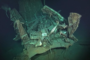 Deepest ever warship wreck found on ocean floor