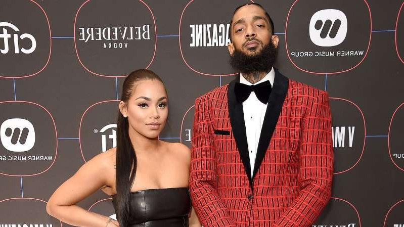Nipsey Hussle, Lauren London are posing for a picture: Nipsey Hussle (left) was killed in March this year but is already on the list
