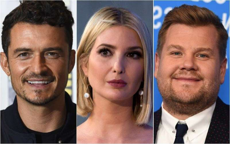 James Corden, Ivanka Trump, Orlando Bloom posing for the camera: James Corden, Ivanka Trump and Orlando Bloom were involved in an unlikely exchange at a wedding