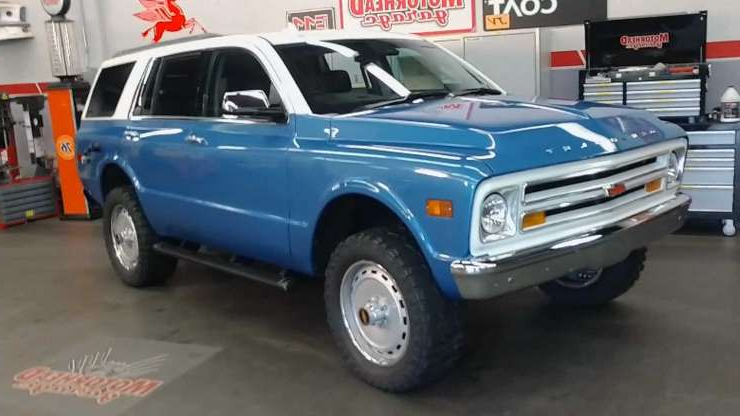 Slide 1 of 7: New Chevy Tahoe Transformed Into Classic Blazer For SEMA