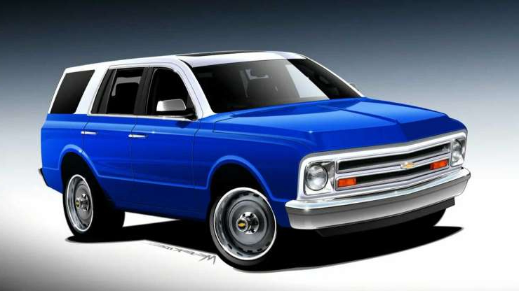 Slide 3 of 7: New Chevy Tahoe Transformed Into Classic Blazer For SEMA