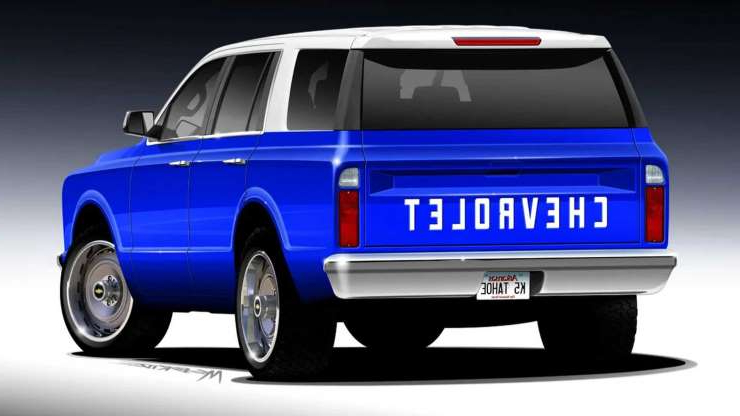 Slide 4 of 7: New Chevy Tahoe Transformed Into Classic Blazer For SEMA