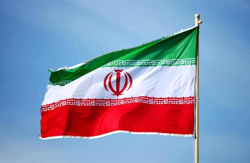 ABU DHABI, UNITED ARAB EMIRATES - JANUARY 12: General View of an Iran flag prior to the AFC Asian Cup Group D match between Vietnam and Iran at Al Nahyan Stadium on January 12, 2019 in Abu Dhabi, United Arab Emirates. (Photo by Matthew Ashton - AMA/Getty Images)