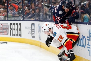Rittich stops 43 shots as Flames beat Blue Jackets 3-0