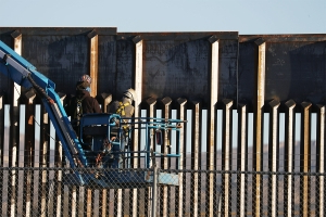 Trump defends border wall design after report smugglers are sawing through it
