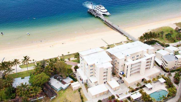 an island surrounded by water: The water supply at Tangalooma Resort has become contaminated with bacteria, according to Queensland Health.