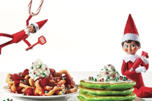 IHOP Has An Entire Elf On The Shelf Menu Including Green Pancakes And Marshmallow Hot Chocolate