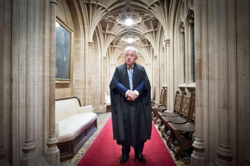 John Bercow in a suit standing in front of a building: John Bercow stepped down on October 31 (Stefan Rousseau/PA)