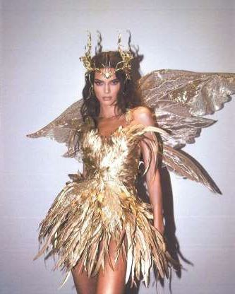 Slide 1 of 11: Kendall Jenner as a forest fairy.