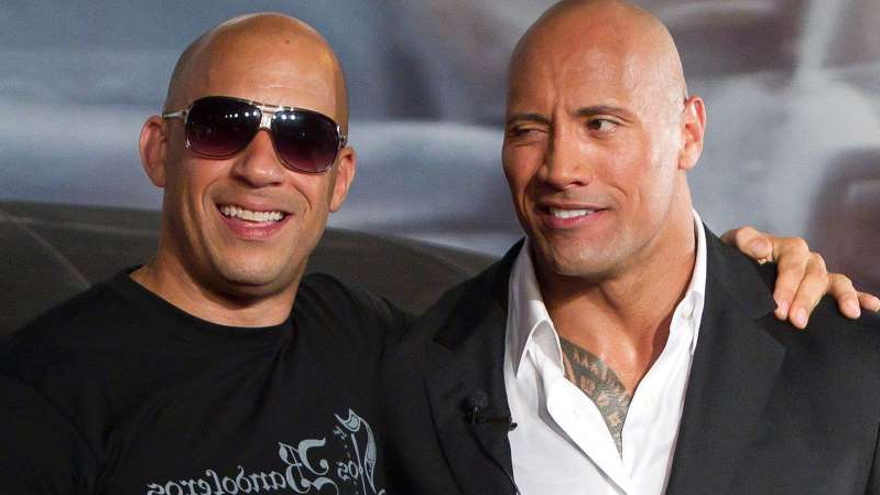 Dwayne Johnson, Vin Diesel are posing for a picture: The Rock and Vin Diesel