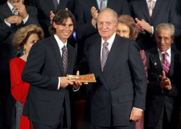 Slide 14 of 38: Spanish Tennis Player Rafael Nadal (r) Receives the 'Marca Award' From Spanish King Juan Carlos i (l) During the Ceremony of the 70th Aniversary of Marca a Spanish Sports Newspaper in Madrid Central Spain 15 December 2008 Spain Madrid