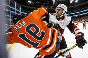 Stepan scores in overtime, Coyotes beat Oilers 3-2