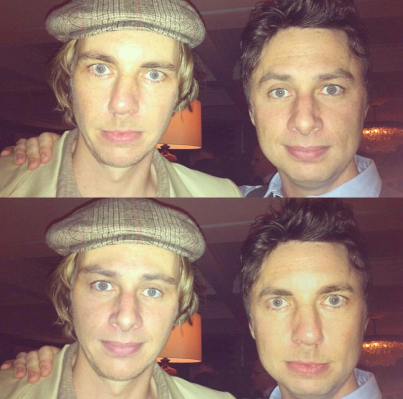 Zach Braff, Dax Shepard, Zach Braff posing for the camera: Zach Braff and Dax Shepard.