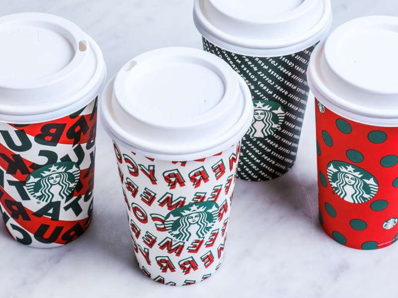 Food Starbucks Unveils Holiday Cup Designs For 2019
